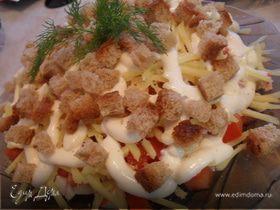 Салат с крабовым мясом.