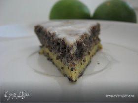 Маковый пирог с лимонной глазурью