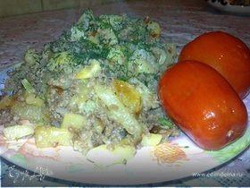 Картошка , жареная с мясным фаршем
