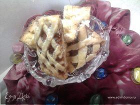 Плетеные песочные печенья с начинкой