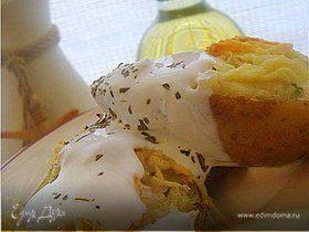 Лодочки из молодого картофеля с фетой