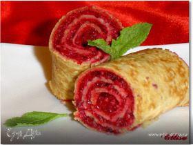 Постные блины с десертной начинкой
