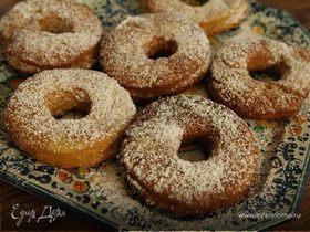 Картофельные пончики в сахарной пудре