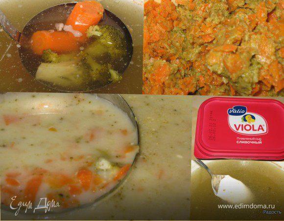 Суп-пюре из брокколи с морковью или наоборот