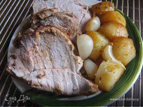 Свинина запечённая в пакете с картофелем