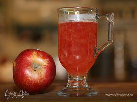 Яблочно-смородиновый чай с медом и корицей