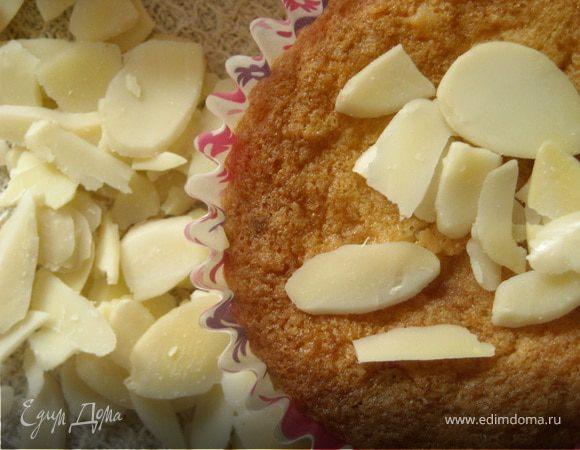 Необычные кексы с кокосовой стружкой и миндальными лепестками