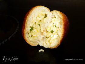 Пирожки с рисом, яйцом и зеленым луком