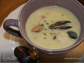 Суп из трески с мидиями
