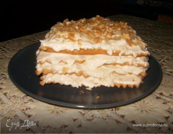 Torta Millefoglie con la crema Chantilly или Слоеный пирог с кремом Шантийи