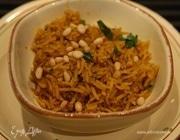Золотистый рис с кинзой и кедровыми орешками