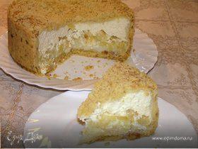 Творожный торт с ананасами