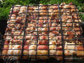 Шашлык из свинины и куриных грудок