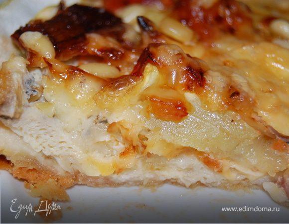 Пирог с кабачками и панчеттой