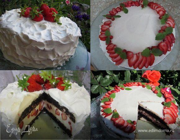 """Два торта """"Клубника под облаками"""" и """"Клубника в сметане"""""""