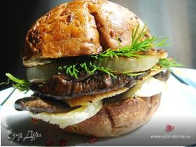 Сэндвич с грибами и курицей