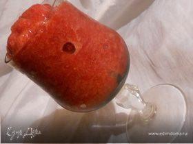 Клубничное сорбе с красным вином