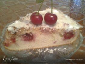 Вишнёвый пирог со шрейзелем