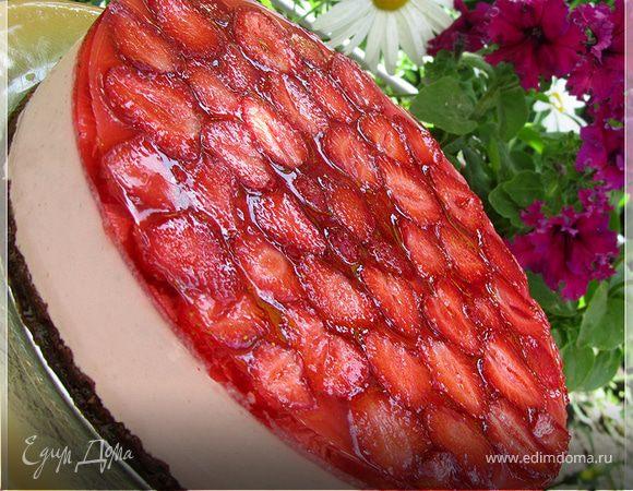 """Творожный торт """"Клубничное счастье"""""""