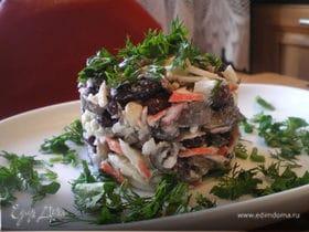 Салат с красной фасолью.