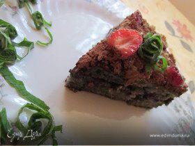 Торт с черничной начинкой и миндалем (постный)