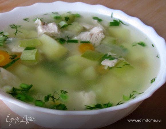 Суп с курицей и кабачками