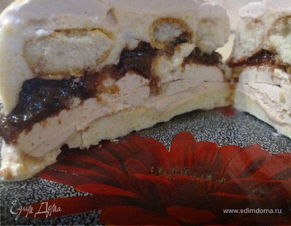Зефирно-творожный мини-тортик
