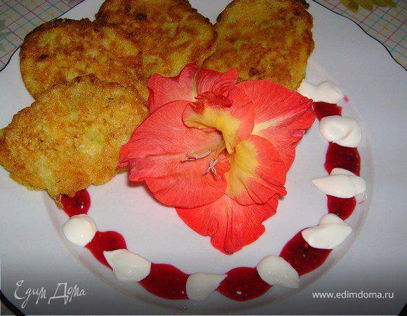 Экспромт с яблоками, кабачками и тыквой (или просто оладушки)