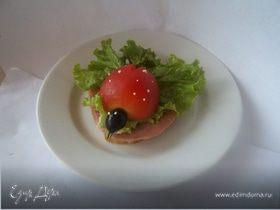 "Бутерброд ""Божья коровка"""