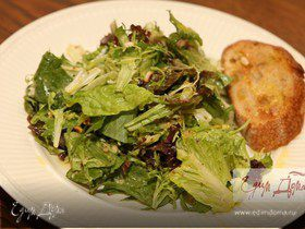 Салат с горчичным соусом