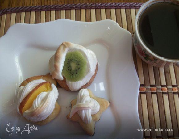 Творожное печенье с меренгой