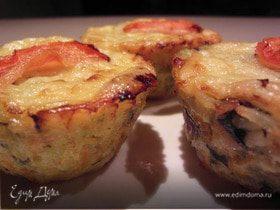 Маффины/Пирог из риса с овощами