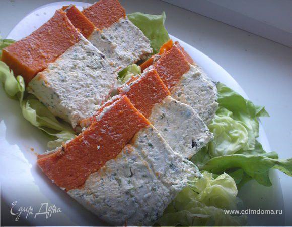 Творожно-овощной террин