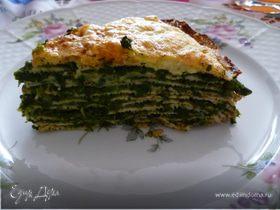 Торт из блинов и шпината