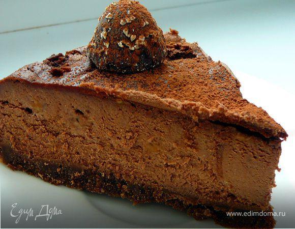 Ну очень шоколадный чизкейк.