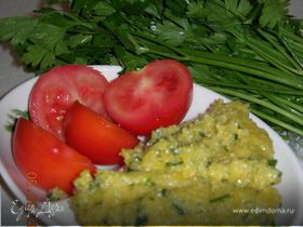 Мамалыга с зеленью