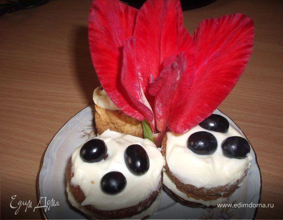 Бисквитные кексики с маскарпоне