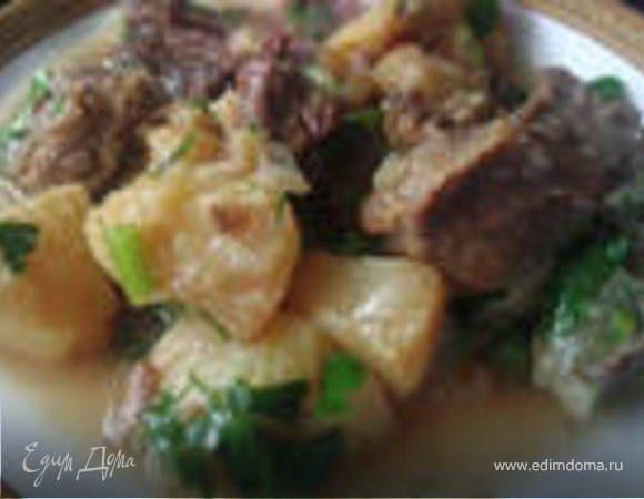 Мясо с айвой