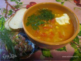 Овощной суп со смородиной