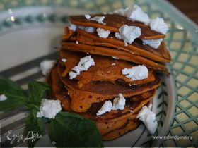 Блинчики из сладкого перца с оливками