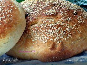 Хлебушек с изюмом, орехами и корицей