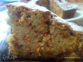 Морковный пирог с корицей и изюмом