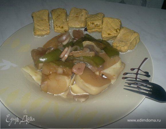 Hot pig + овощи гарам масала и итальянские парппадели