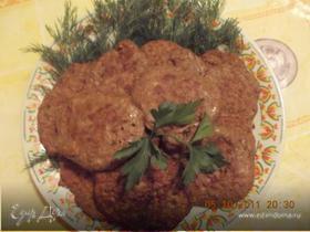 печёночные оладьи с грибами