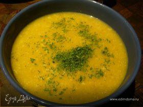 Суп-пюре из тыквы и яблока