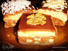 Мини-пирожные с тоффи без выпекания