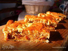 Пирог на хлопьях с сушеными абрикосами