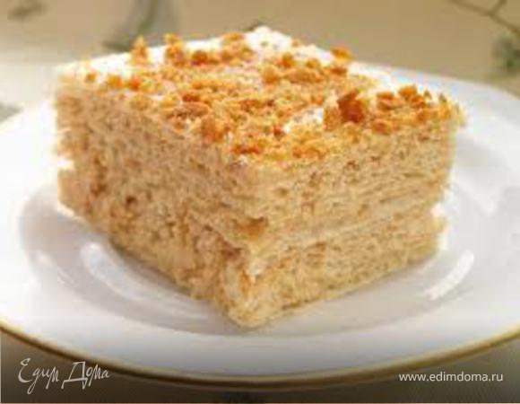 Вафельный тортик со сгущенкой