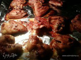 Запечённые куриные крылышки в медовом соусе