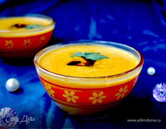 Крем-суп из тыквы с карри и бальзамическим кремом